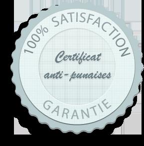 Certificat anti-punaises de lit - Hotellerie